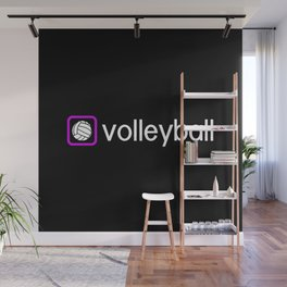 Volleyball (Purple) Wall Mural
