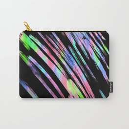 Abstract pink teal lime green black watercolor brushstrokes Carry-All Pouch