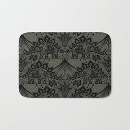 Stegosaurus Lace - Black / Grey - Bath Mat