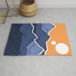 The mountains under the two suns Rug