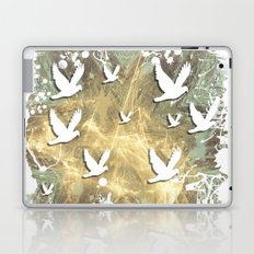 Birds on beige messy kaleidoscope Laptop & iPad Skin