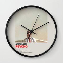 American Psycho Minimal Movie Poster No 01 Wall Clock