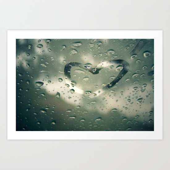 Love on a Rainy Day Art Print