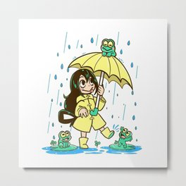 Best Frog Girl Metal Print