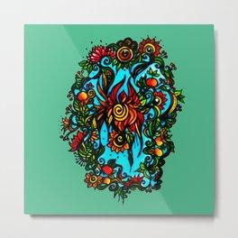 Phoenix Flower Metal Print