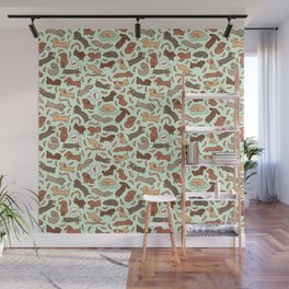 Wiener Dog Wonderland Wall Mural