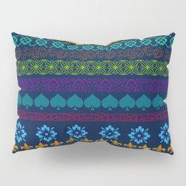 Mountain Midnight Folk Art Pillow Sham