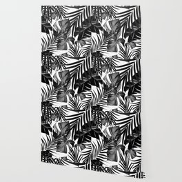 Tropical Jungle Leaves Pattern #10 #tropical #decor #art #society6 Wallpaper