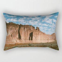Huge rock outcropping in Utah Rectangular Pillow