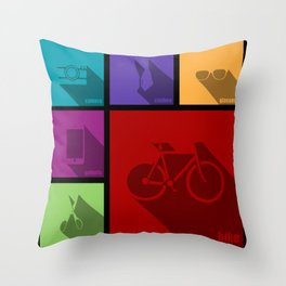 creative hipster accessories Throw Pillow