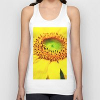 sunflower Tank Tops featuring Sunflower by Falko Follert Art-FF77