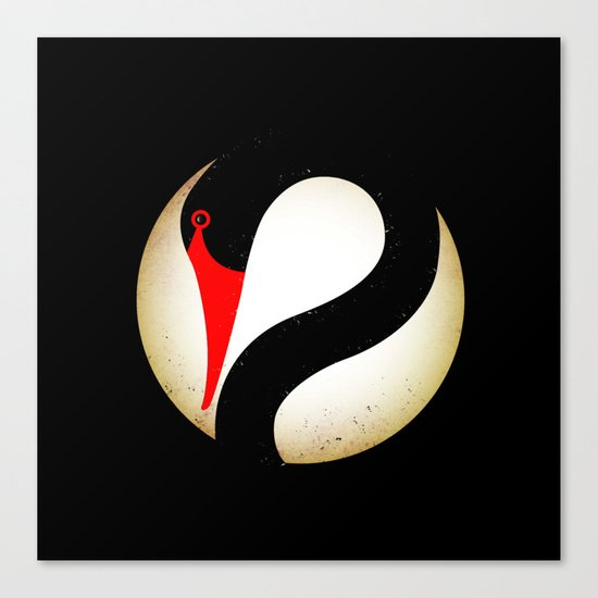 Black Swan Logo Canvas Print