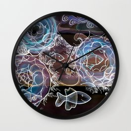 Life on the Earth at Night Wall Clock