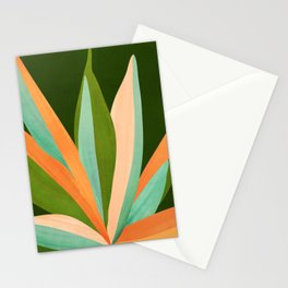 Colorful Agave / Painted Cactus Illustration Stationery Cards