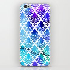 Damask in Cool Purple iPhone & iPod Skin