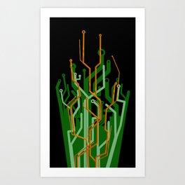 Circuit tree Art Print