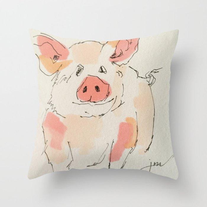 This Little Piggy... Throw Pillow