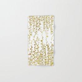 golden string of pearls watercolor Hand & Bath Towel