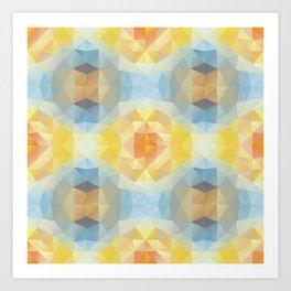 Kaleidoscopic design in soft colors Art Print