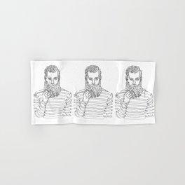 Beard Man with a Pipe Hand & Bath Towel