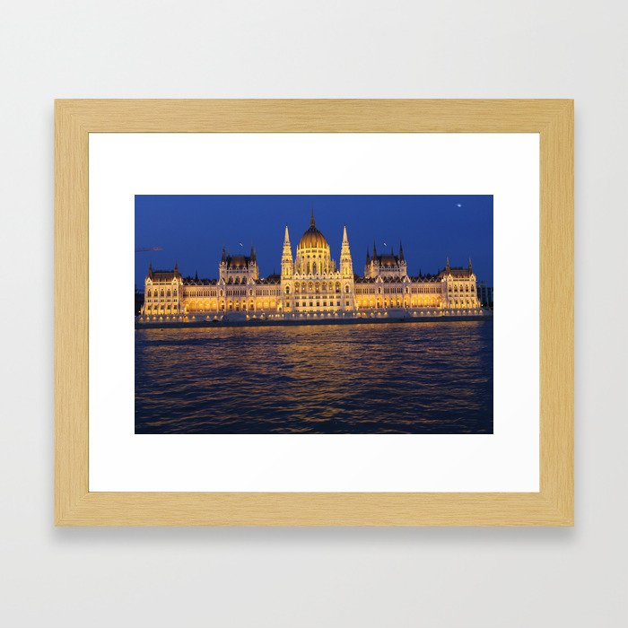 hungarian parlament Framed Art Print