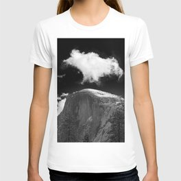 Half Dome Looms on a Cold Spring Day and a Cloud Grows on the Updraft T-shirt