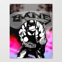 bane Canvas Prints featuring Bane by Jamie Clayton