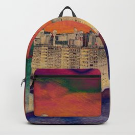 Cartoon City Triptych Right Backpack