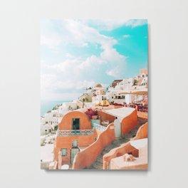 Santorini Glance Metal Print