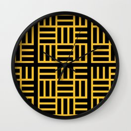 The Black lines pattern Wall Clock