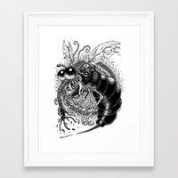 bug Framed Art Prints featuring BUG! by PRESTOONS / Art by Dennis Preston
