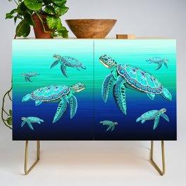 Sea Turtle Turquoise Oceanlife Credenza
