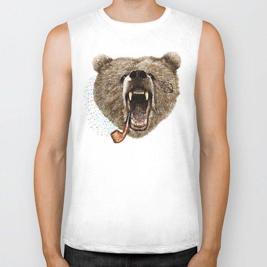 Angry Bear Biker Tank