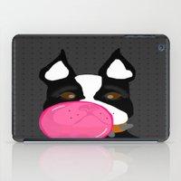 terrier iPad Cases featuring Bubblegum Terrier by Designs By Misty Blue (Misty Lemons)