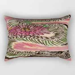 Snake Skeleton & Chrysanthemum Rectangular Pillow