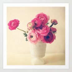 Cottage Flowers Art Print