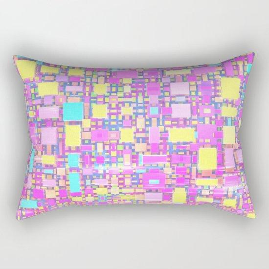 Wild Pastel Cubes Rectangular Pillow