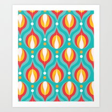 Colorful Dewdrops Art Print