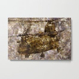 Grunge Dynamics 030 Chinook Metal Print
