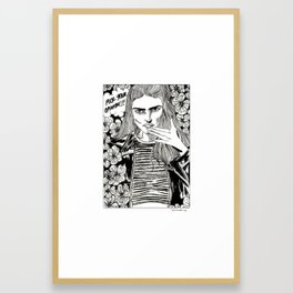 Fuck your opinion! Framed Art Print