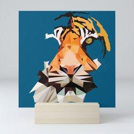 Tiger Low Poly Mini Art Print