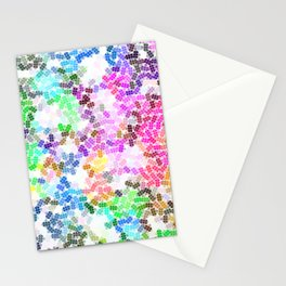 Colored Pattern, Colorful Life Stationery Cards