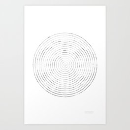 GEOMETRIC MARKS // CASTLE Art Print