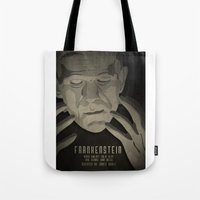 frankenstein Tote Bags featuring Frankenstein by James Northcote
