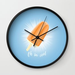Oh So Cool - Orange Wall Clock