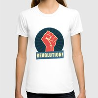 revolution T-shirts featuring REVOLUTION! by Word Quirk