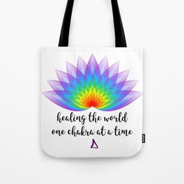 One Chakra at a Time Tote Bag