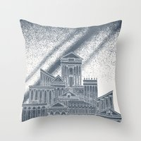 saturn Throw Pillows featuring Saturn by David Fleck