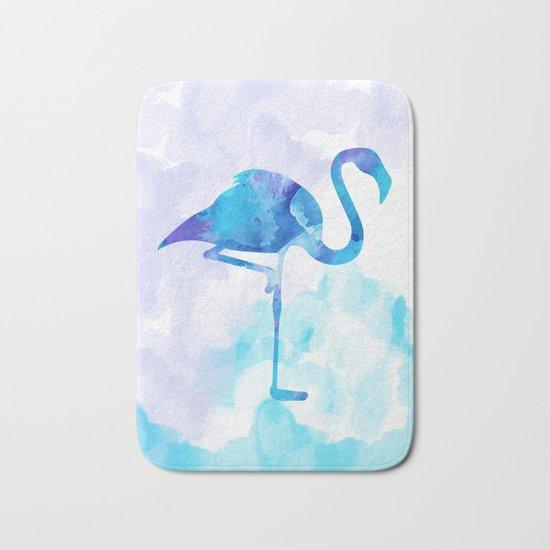 Abstract Flamingo Bath Mat