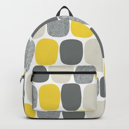 Wonky Ovals in Yellow Backpack